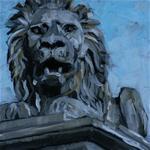 Makay Anikó Watch Lion olajfestmény